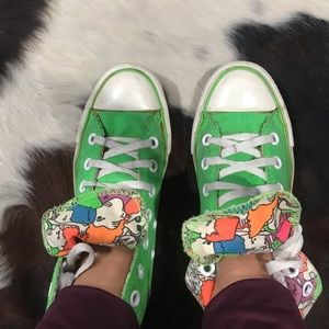 Lime Green Party people hit top converse